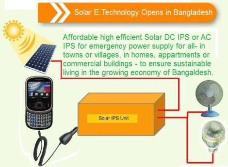 Solar E Technology in Bangladesh